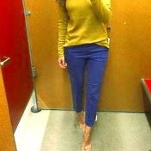 LOFT royal blue cropped capri pants size 0